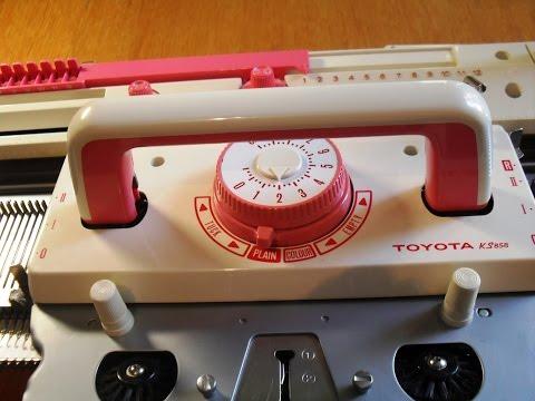 Вязание на машине TOYOTA KS 858.  Способы набора петель