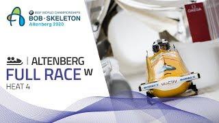 Altenberg | BMW IBSF World Championships 2020 - Women's Bobsleigh Heat 4 | IBSF Official