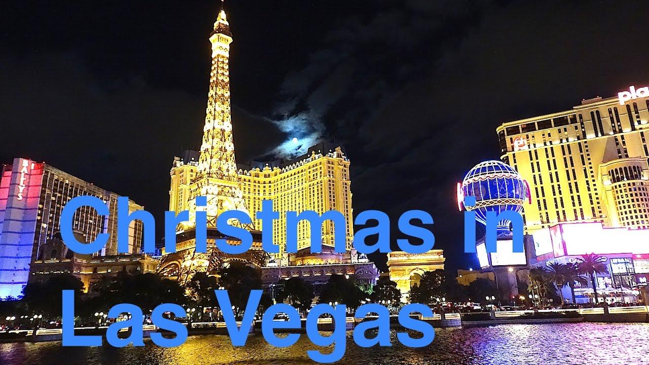 Las vegas strip at christmas pictures