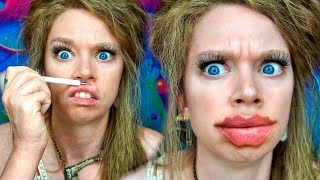 Testing Devil/Octopus Lips - TIKTOK Makeup Challenge