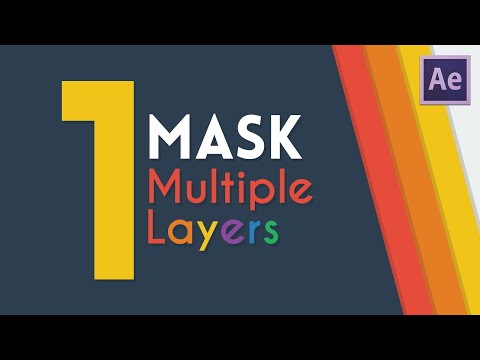 One Mask For Multiple Layers   After Effects Tutorial