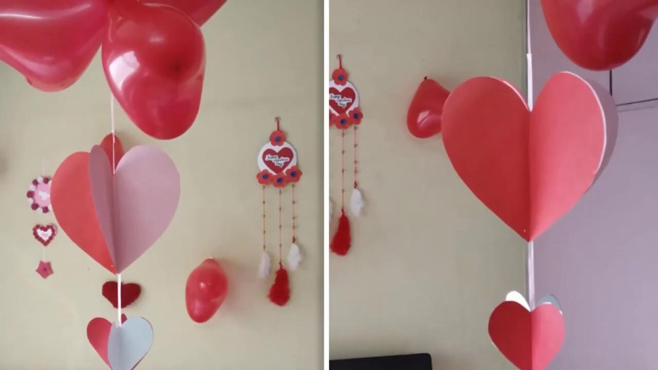 Romantic Room Decorating Ideas Valentines Decoration Ideas Anniversary Room Decoration Ideas Youtube