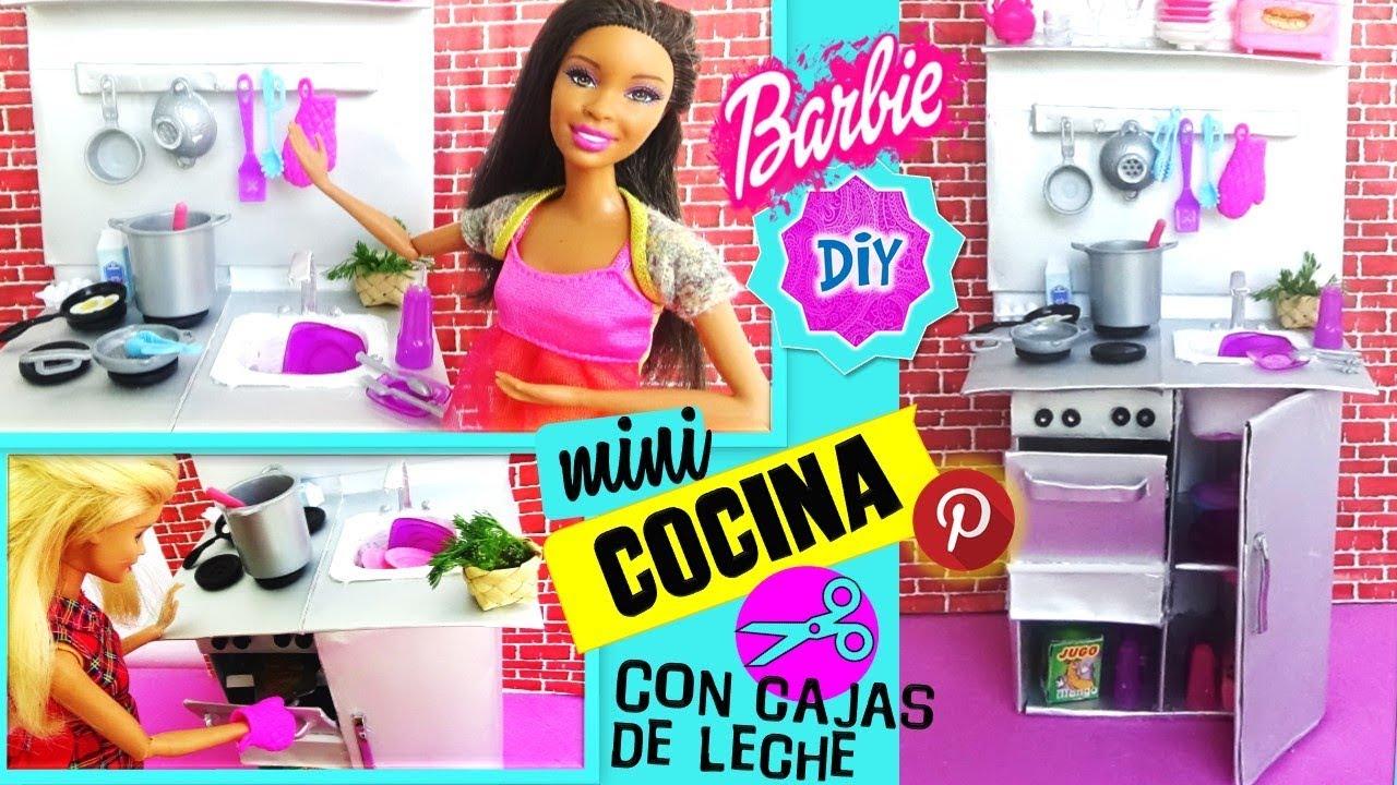 Como Hacer Mini Cocina Para Munecas Barbie Reciclando Cajas De Leche