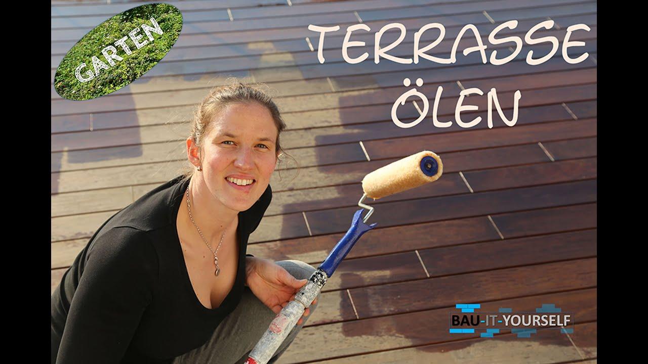 Bevorzugt Terrasse reinigen und rückenschonend ölen - YouTube CP12
