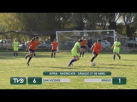 San Vicente superó ampliamente a Rengo en la liga femenina regional de fútbol
