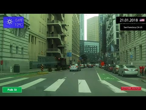 Driving through San Francisco (United States)  21.01.2018 Timelapse x4