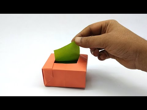 Paper Tissue Box - How To Make A Tissue Box Using Paper - Easy Origami Tutorial