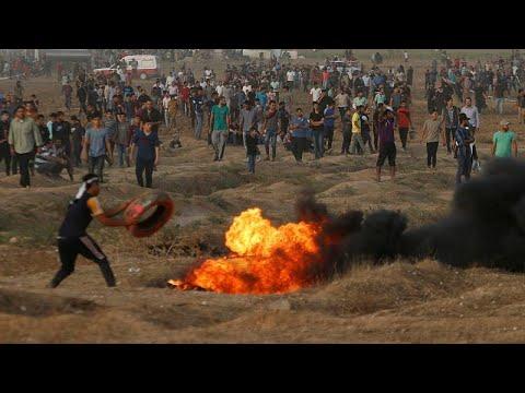 Confrontos junto à fronteira entre Israel e a Faixa de Gaza
