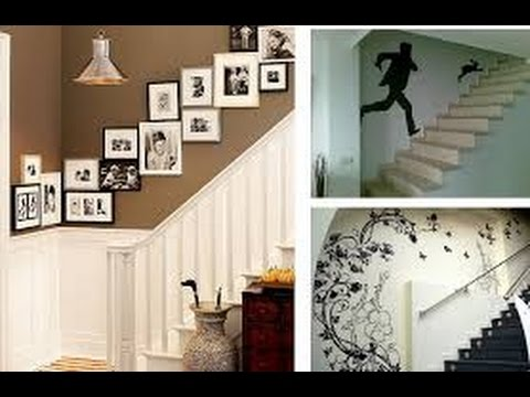 70 ideas para decorar tus escaleras para tu hogar for Decorar pared escalera