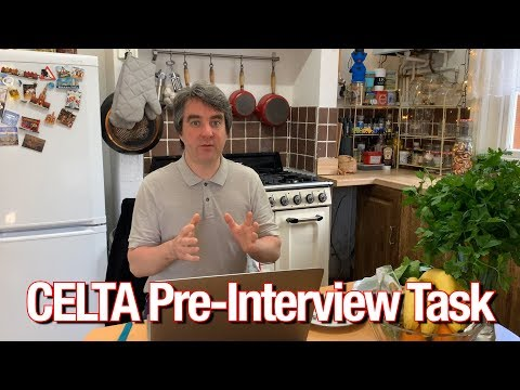 How To Complete The CELTA Pre Interview Task