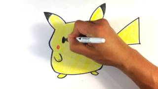 How to Draw Pikachu (fat) from Pokemon Go- Easy Drawings