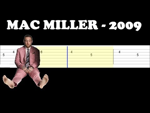 Mac Miller - 2009 (Easy Guitar Tabs Tutorial)