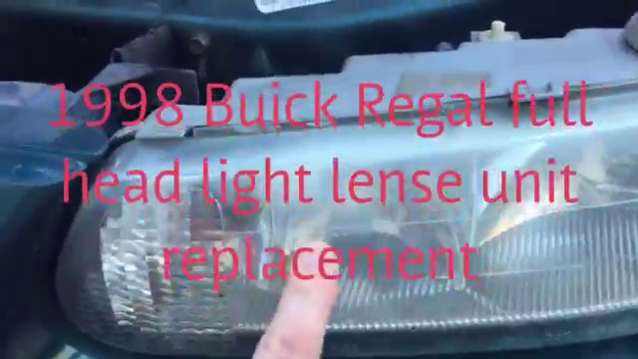 medium resolution of 1998 buick regal headlight and lens unit replacement