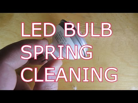 Have you cleaned your LED light bulbs lately?