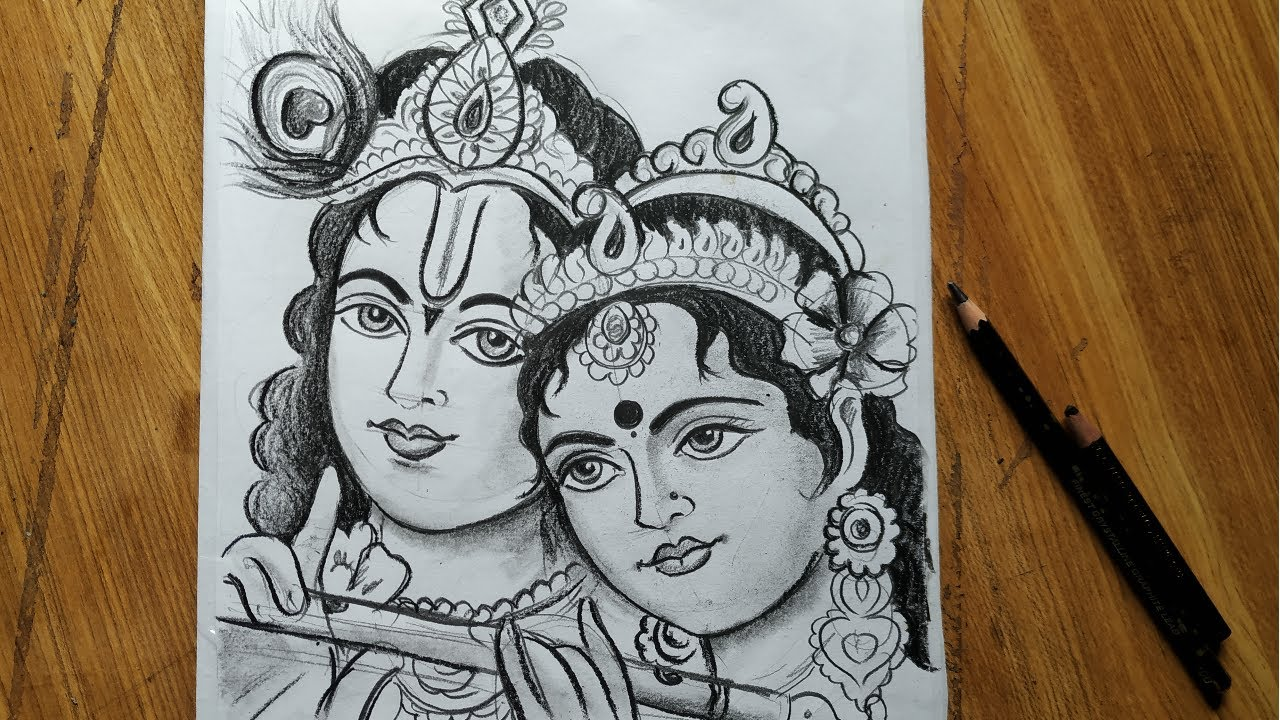 Dol Yatra Special Radha Krishna Drawing How To Draw Lord Krishna Radha Easy Face Drawing Youtube