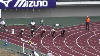 全日本実業団対抗陸上2015 男子障がい者(知的)T20 100m決勝夏山成水11.72(-1.5)