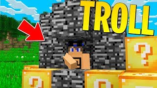 HO TROLLATO MARCO NELLA CORSA DEI LUCKYBLOCK! - Minecraft ITA