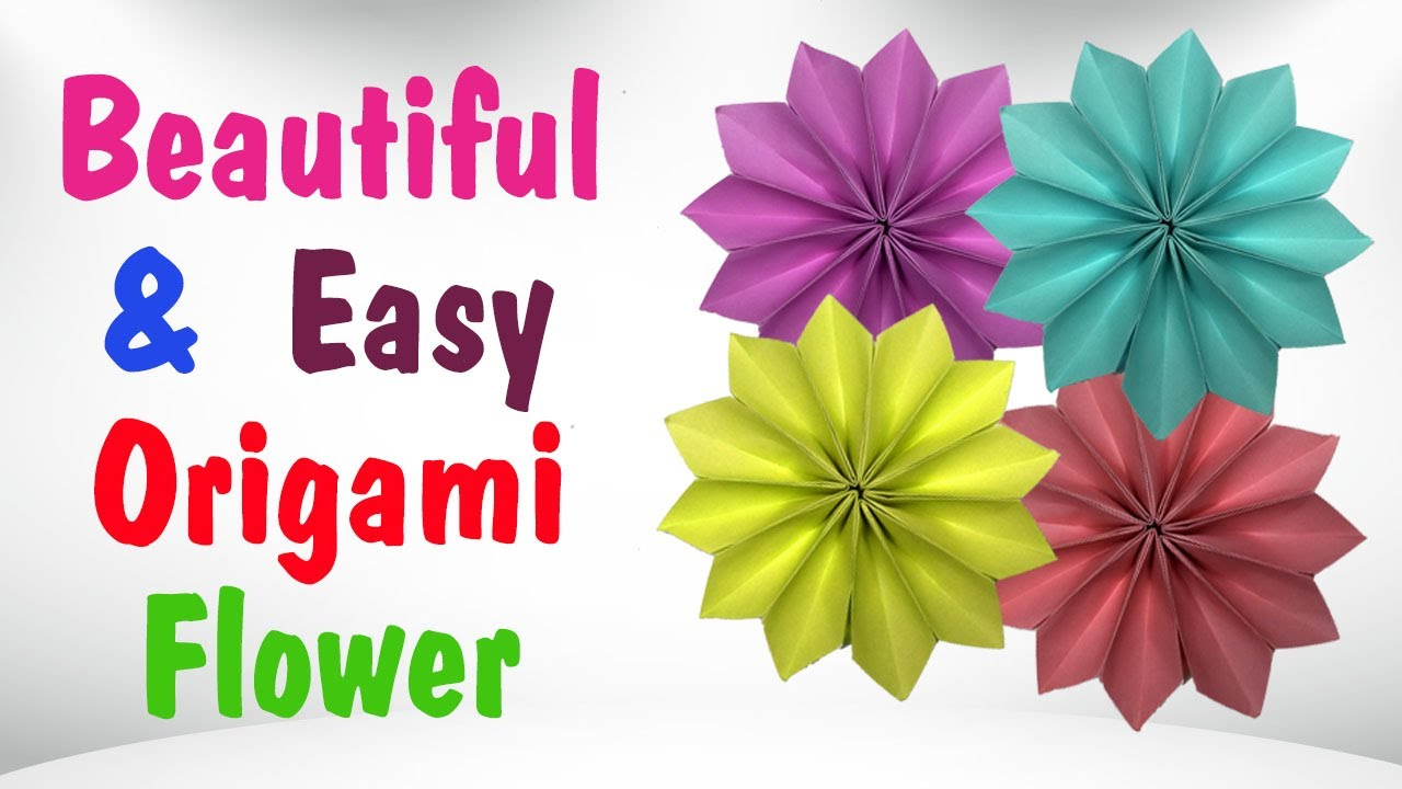 Beautiful Paper Origami Flowers Simple Origami Flower Instructions