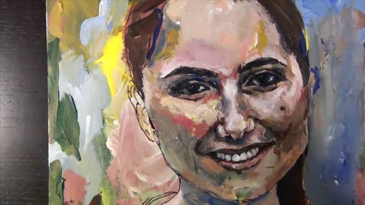 Painting a portrait with acrylic paint by gordon b speed painting youtube