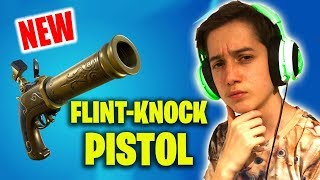 The Flint-Knock-Pistol! NEW FORTNITE WEAPON GAMEPLAY *LIVE*