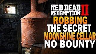 NO BOUNTY! Robbing A Secret Moonshine Cellar! Secret Stash! Red Dead Redemption 2 Easy Money