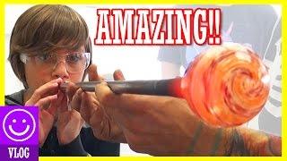 AMAZING GLASS BLOWING CLASS!  FIRE+KIDS = FUN!   |  KITTIESMAMA