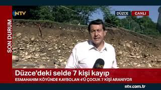 NTV ekibi sel felaketinin ardından Düzce'de
