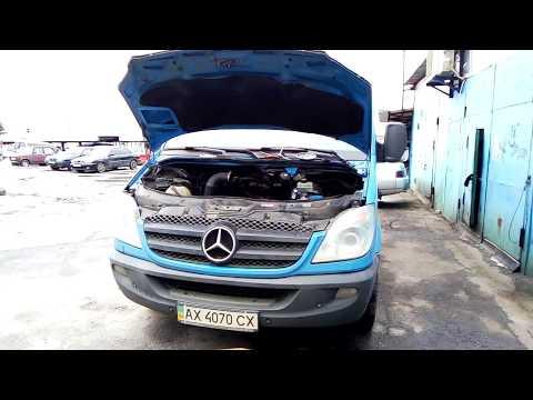 Мерседес Спринтер / Mercedes Sprinter течь тосола OM651 2.2 CDi