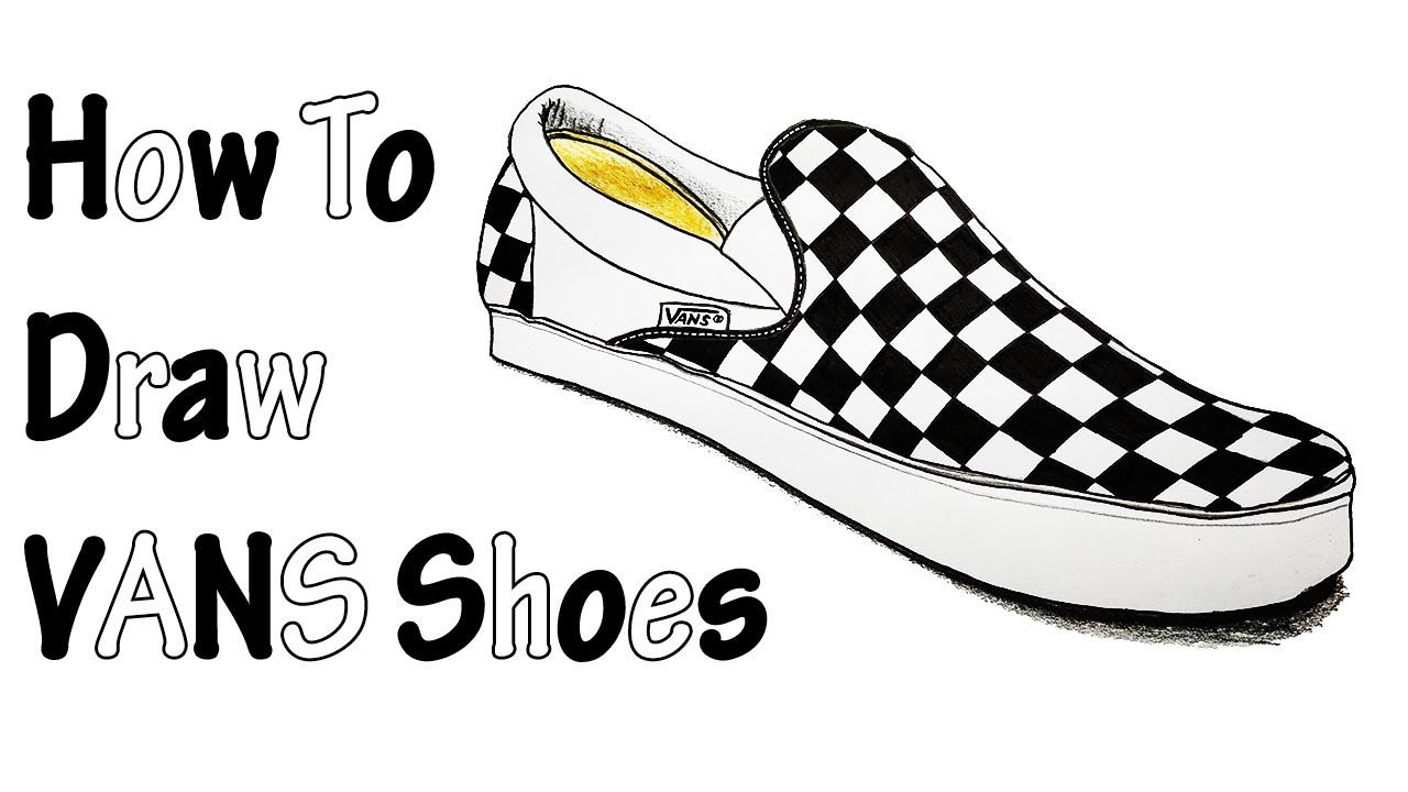 How to Draw VANS - YouTube