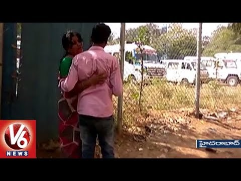 Boy Attack On Intermediate Girl With Coconut Sickle At Barkatpura | Hyderabad | V6 News