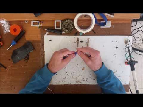 DIY CD Rom Brushless Motor Disassembly and Rewinding four RC #1