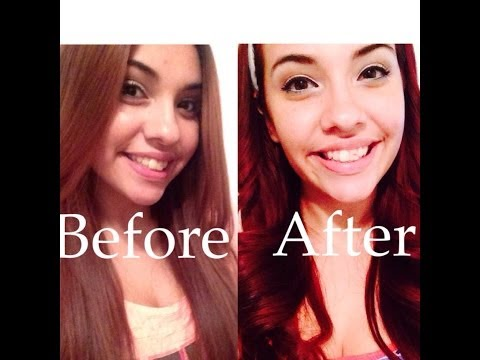 How I Got My Hair Red/Wine Red without bleach | Demo