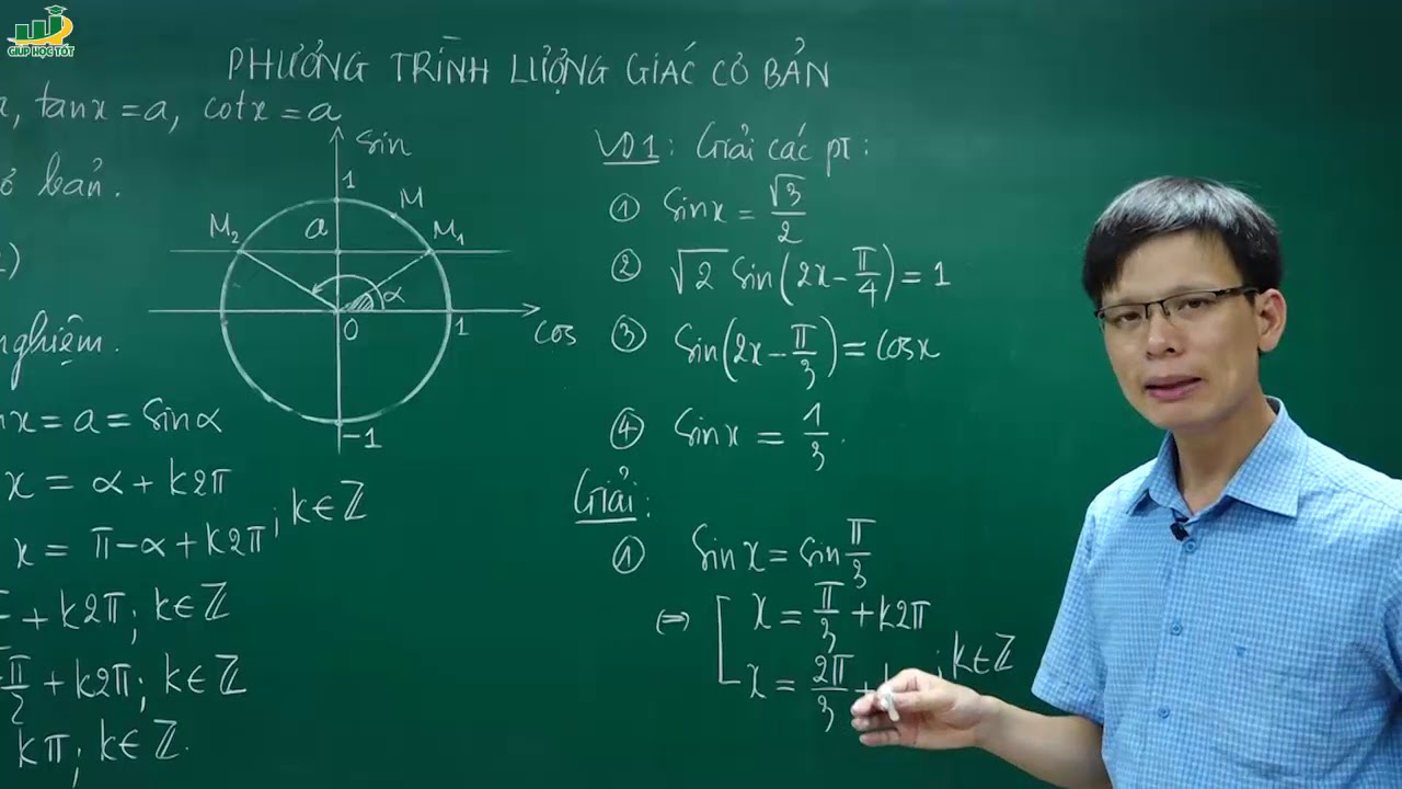 Toán Lớp 11 -Chương 1 Hàm số lượng giác, phương trình lượng giác – Phương Trình Lượng Giác Cơ Bản