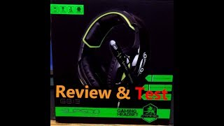 SupSoo G813 Gaming Headset Review!