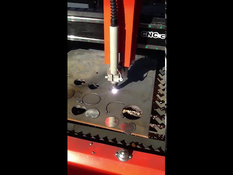 CNC Plasma cutting machine with 100A power supply cut 20mm carbon steel