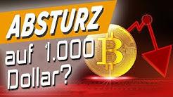 Bitcoin-Blutbad- Crash bis 1.000 Dollar?