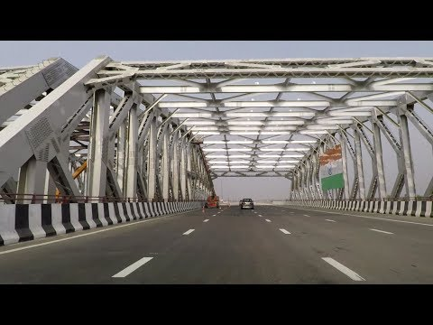 Driving on Delhi Eastern Peripheral Expressway (NE II) - India