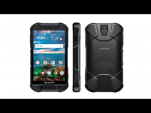Kyocera's newest rugged phone has a sapphire display and a fingerprint sensor.