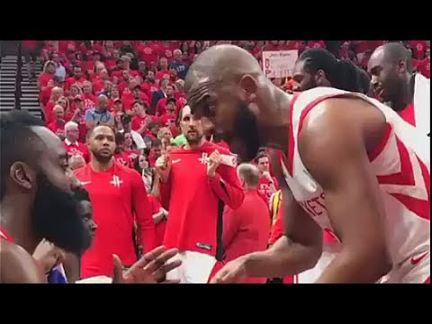 James Harden Slaps Chris Paul's Hand Away in Heated Exchange of Words!