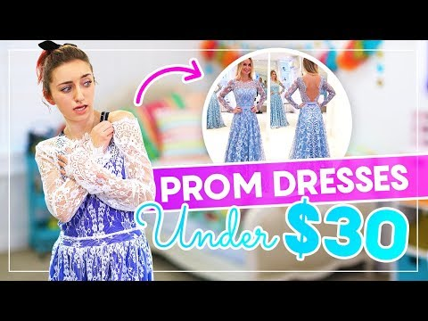 Trying on PROM DRESSES UNDER $30 from AMAZON and EBAY! #Prom