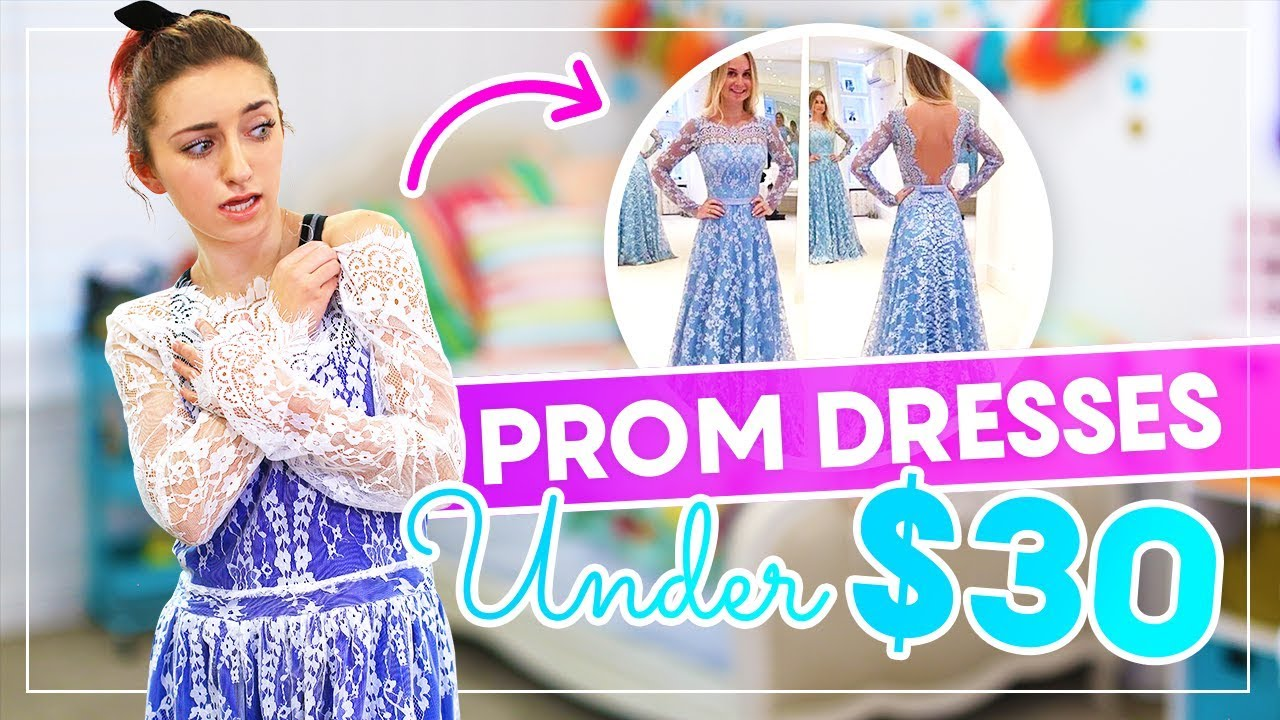 709bafb0f0d6 Trying on PROM DRESSES UNDER  30 from AMAZON and EBAY!  Prom - YouTube