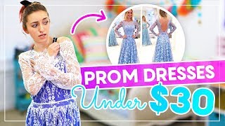 Download Trying on PROM DRESSES UNDER $30 from AMAZON and EBAY! #Prom Mp3 and Videos