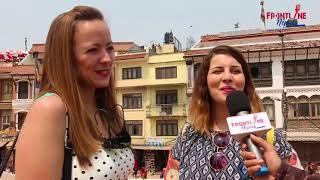 मम: भनेपछि हुरुक्कै हुने विदेसी युवतीसँग रमाईलो कुराकानी || Frontline Nepal