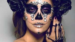 One of Jordan Liberty's most viewed videos: DIAMOND SUGAR SKULL Makeup Tutorial! | ORIGINAL LOOK