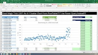 Excel Magic Trick 1337: No X-Y Scatter Chart From PivotTable!?!? Use Power Query Instead!!!