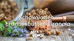 Schoko Erdnussbutter Granola - 5 Zutaten Knuspermüesli ohne Zucker