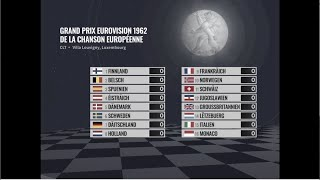 Eurovision 1962: All or nothing   Super-cut with animated scoreboard