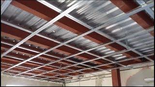 تركيب قواعد سقف مستعار وتركيب سقف من جسورة الحديد