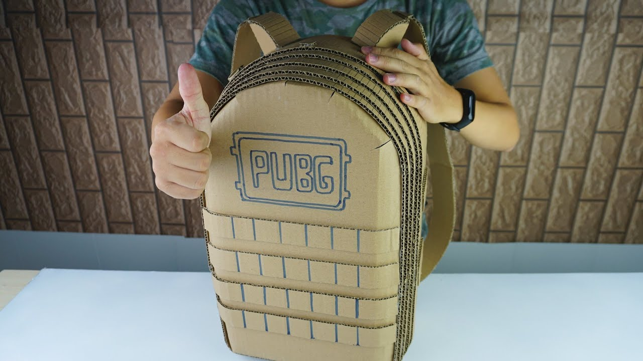How To Make A Pubg Level 3 Backpack From Cardboard Diy By King Of