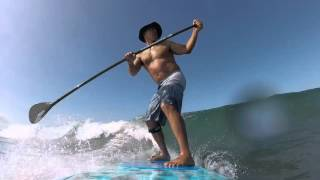 Tom SUP Mission Beach Oct 2015 Backside